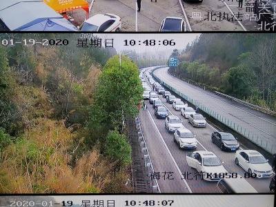 【第一发布】高速韶关段车堵逾50公里,京珠北和乐广一天发生交通事故86宗