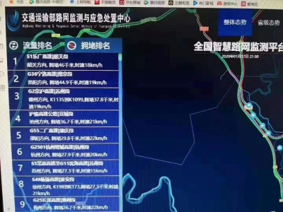 【第一发布】出省车流超7万,京珠北、乐广严重拥堵!