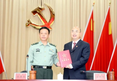 王瑞军任韶关军分区党委第一书记